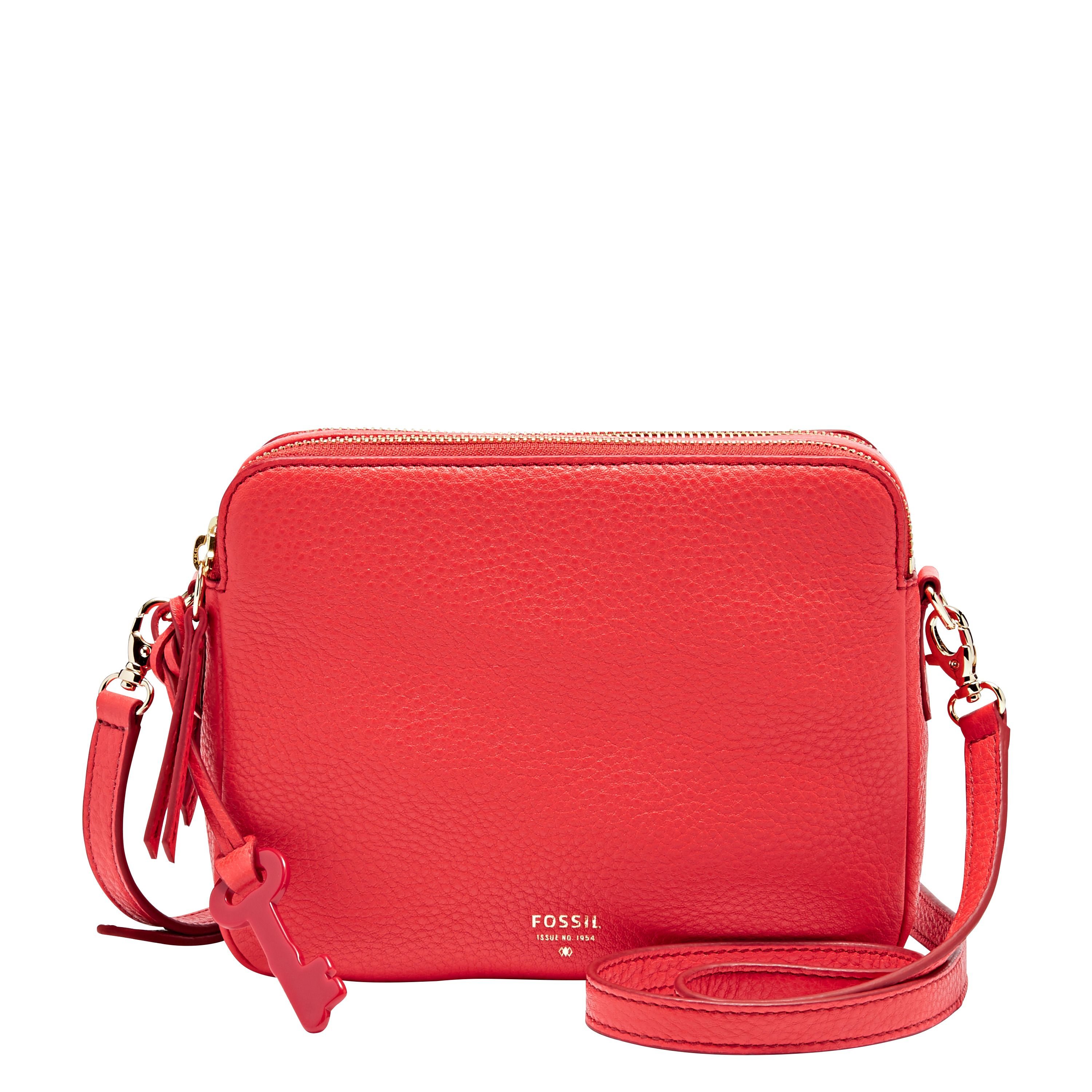 Fossil Sydney crossbody Red