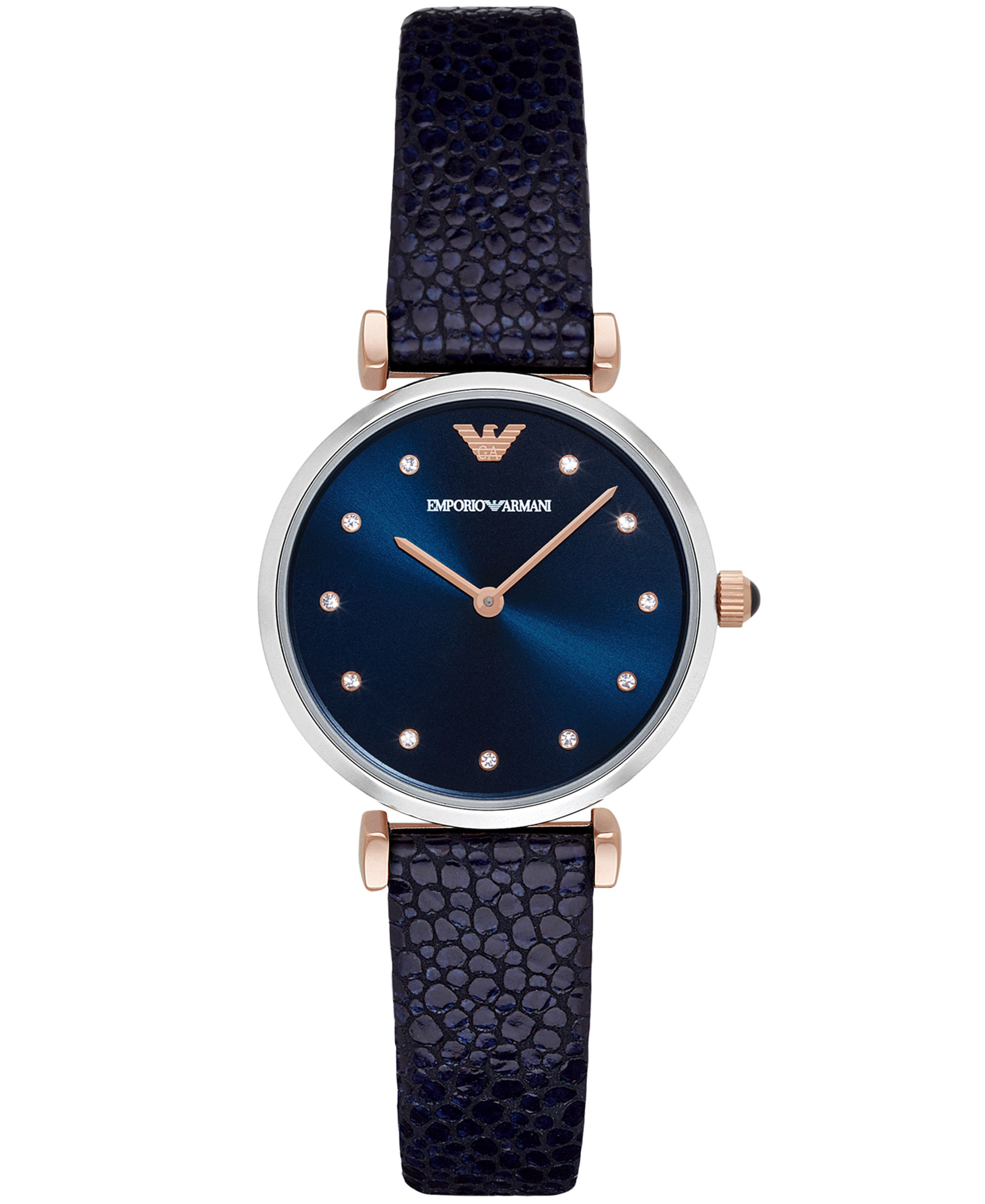 Emporio Armani AR1989 ladies strap watch Navy