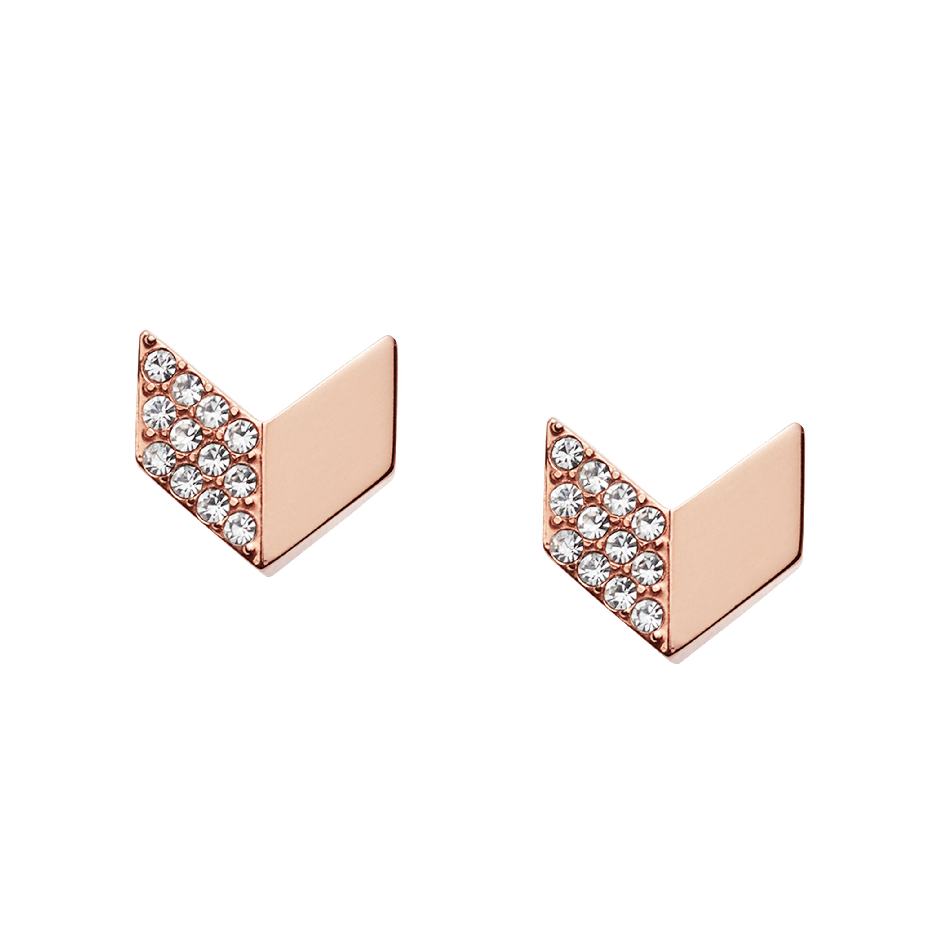 fossil jf02423791 ladies earring studs