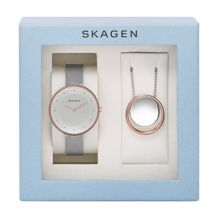 Skagen SKW1078 watch and necklace gift set