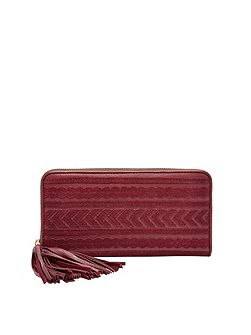 SL7240609 Emma RFID Large Zip Clutch