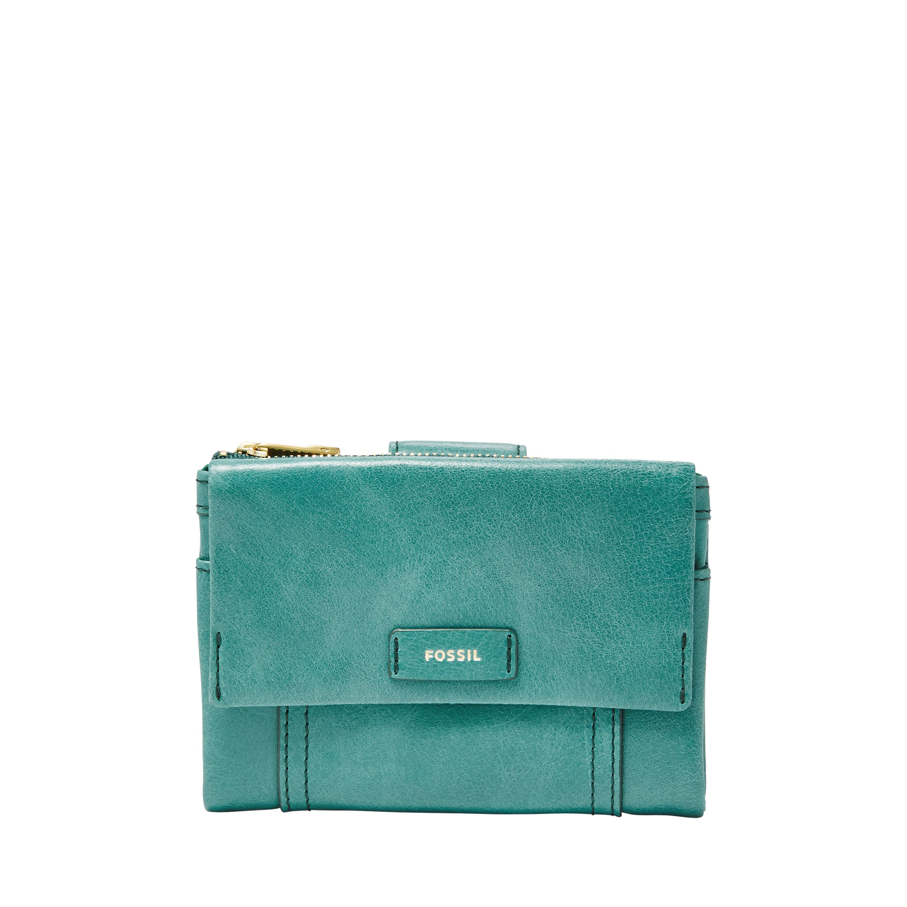 Fossil Ellis multifunction pouch Teal
