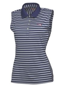 Puma Stripe sleeveless polo