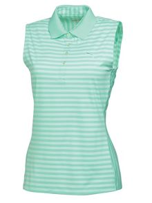Stripe sleeveless polo
