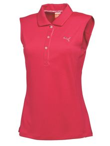 Tech sleeveless polo