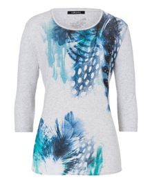 Feather print T-shirt