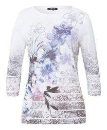 Olsen Sequin and Floral Print T-Shirt