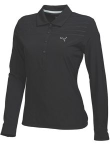 Puma Woven Long Sleeve Polo