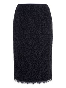 Basler Lace Pencil Skirt