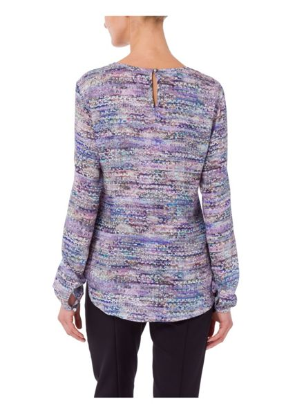 Basler Floral Print Long Sleeve Top