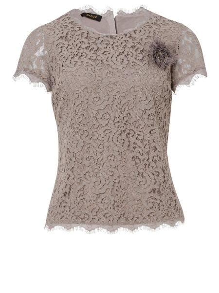 Basler Lace short sleeved blouse