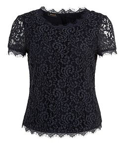 Lace short sleeved blouse