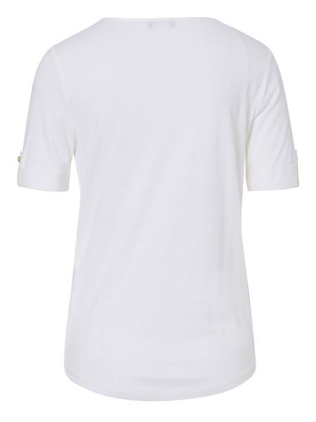 Basler T Shirt with Shoulder Zip Detail
