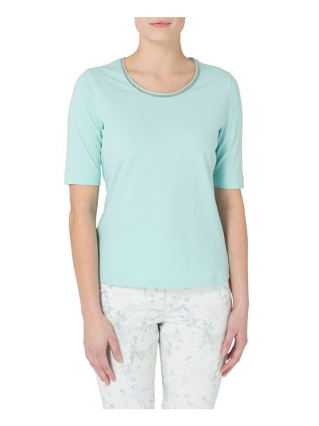 Basler T-shirt with neck detail