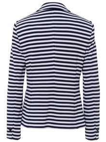 Basler 3 Button Navy and White striped Blazer
