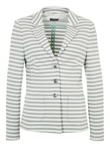 Basler Stripe 3 Button Blazer