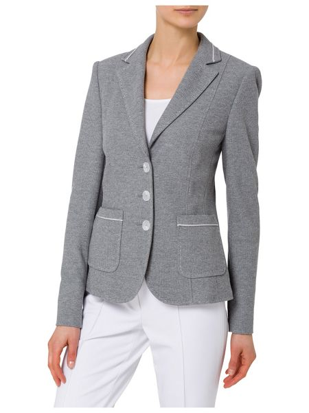 Basler Blazer with Decorative Stitching
