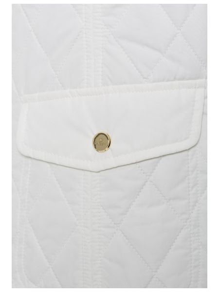 Basler Quilted Jacket with pleather trim