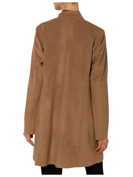 Basler Faux Suede Waterfall Jacket
