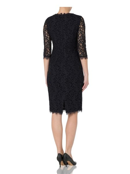 Basler Lace Dress with 3/4 Length Sleeves