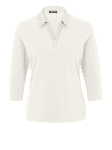 Basler Polo Shirt With V Neck Detail