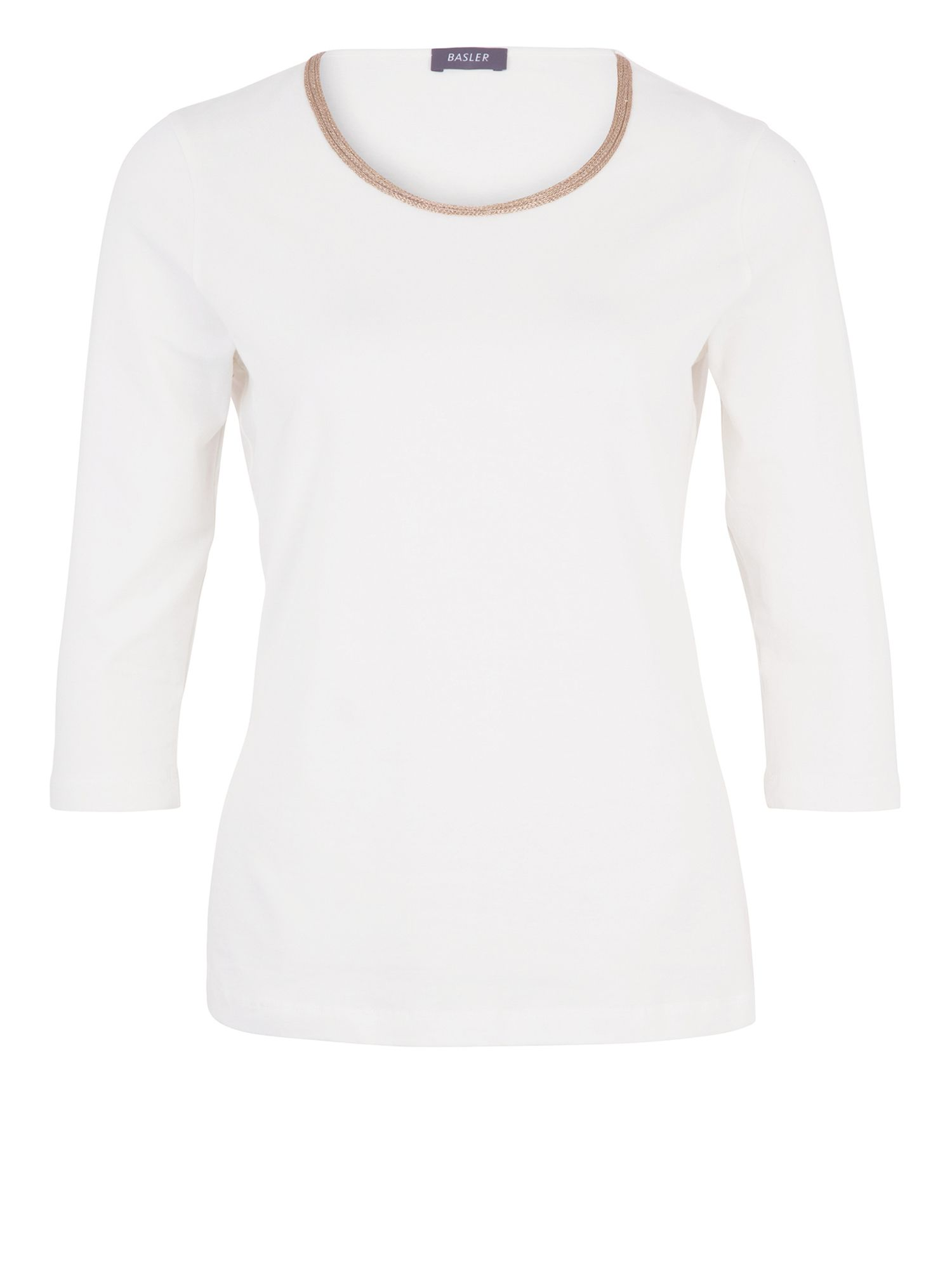 Basler T-shirt With Neck Detail, White