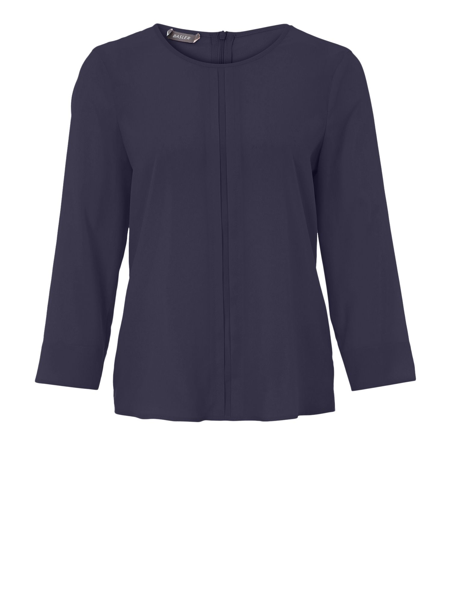 Basler Basler Blouse With Detail Down The Front, Navy