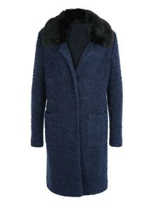 Basler Wool Coat With Faux Fur Collar