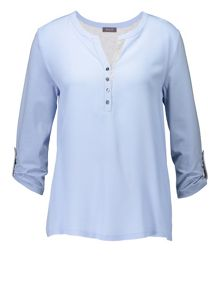 Basler Button Neck Blouse