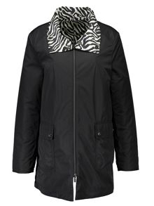 Basler Reversible Animal Print Raincoat