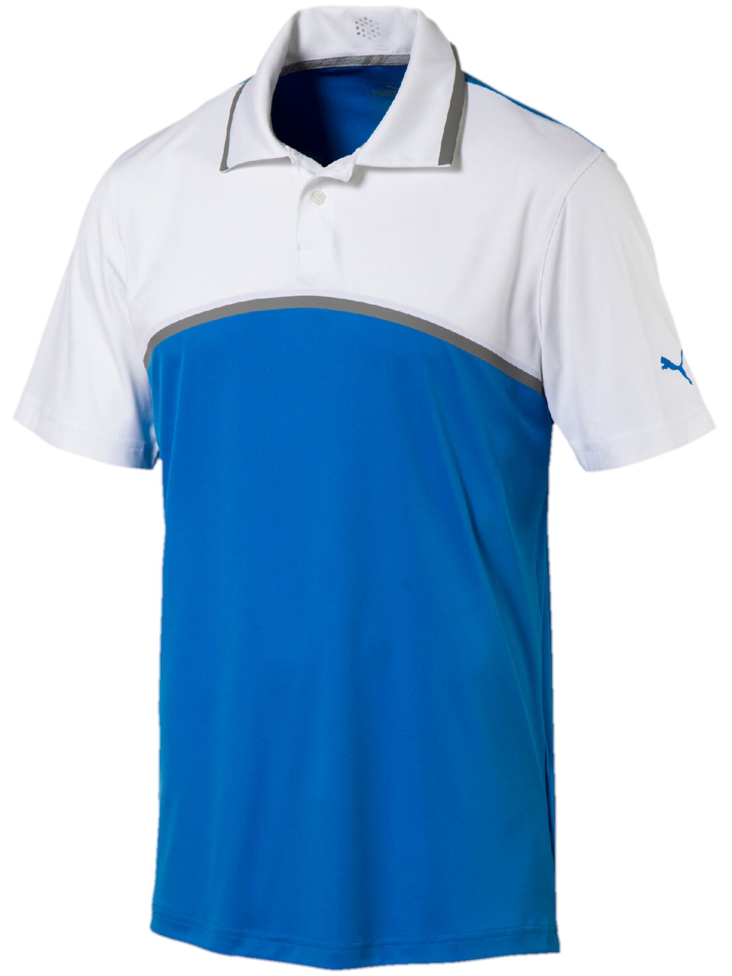 Men's Puma Tailored Colorblock Polo, Airforce Blue