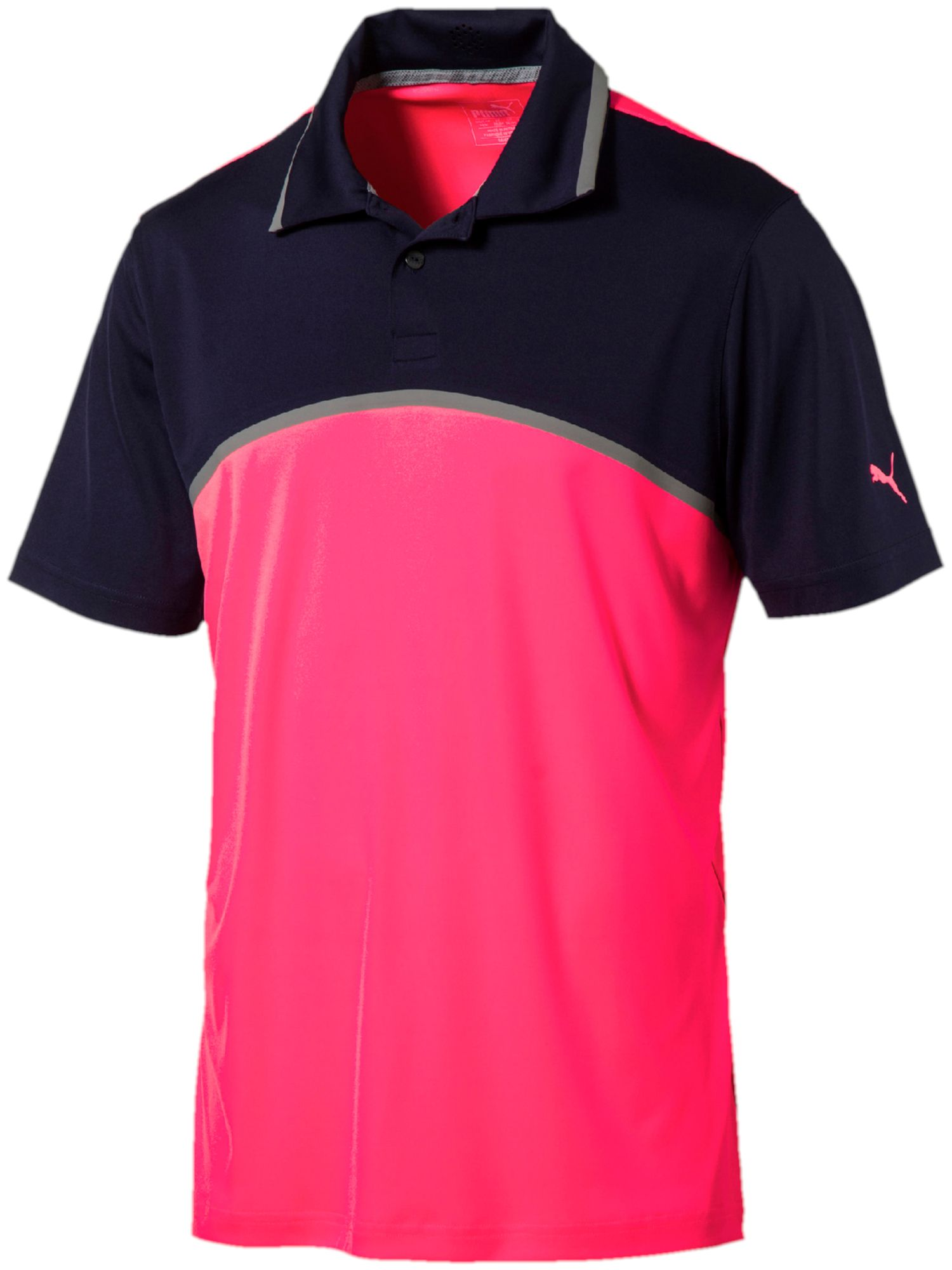 Men's Puma Tailored Colorblock Polo, Pink