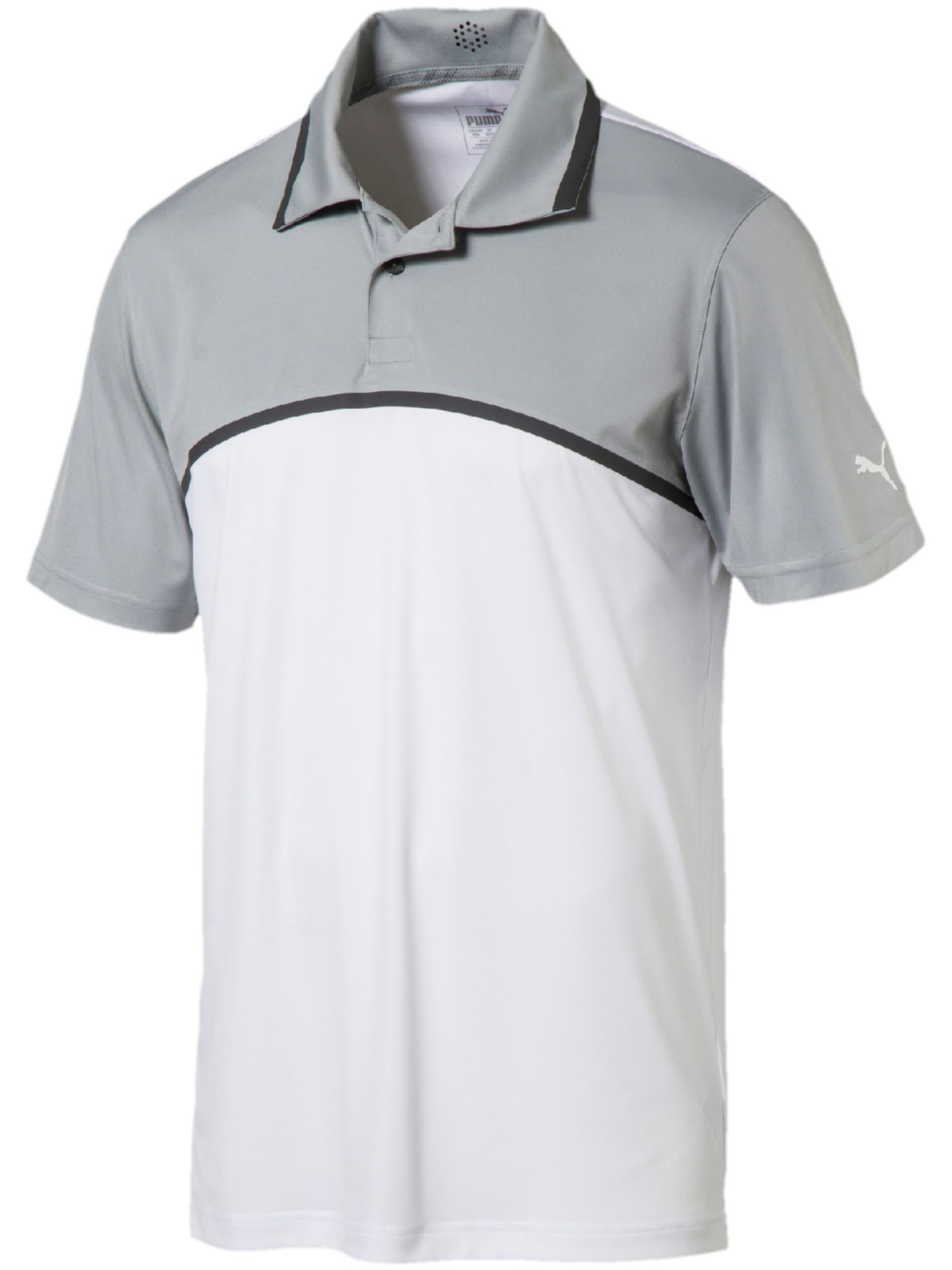 Men's Puma Tailored Colorblock Polo, White