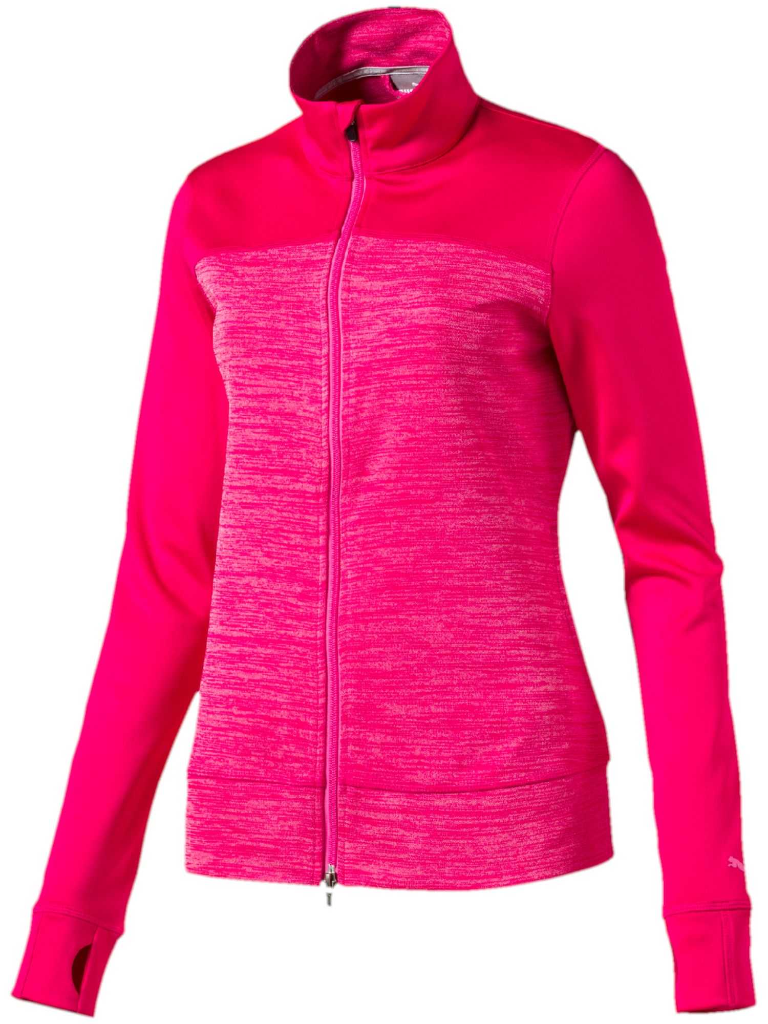 Puma Colorblock Full Zip Jacket, Pink