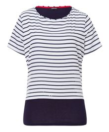 Olsen Sequin striped T-shirt