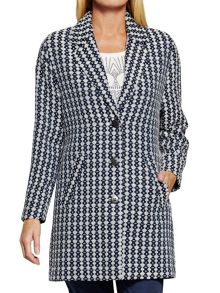 Sandwich Jacquard long coat
