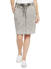 Sandwich Denim wash skirt