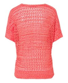 Olsen Open knit cotton top