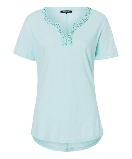 Olsen Cotton T-shirt with beads