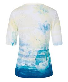 Olsen Printed cotton T-shirt