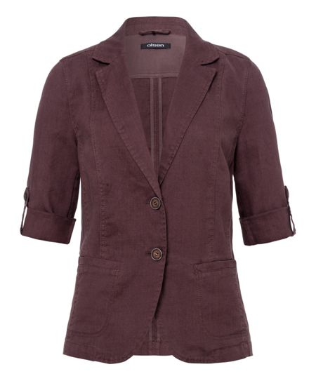 Olsen Turn up sleeve linen jacket