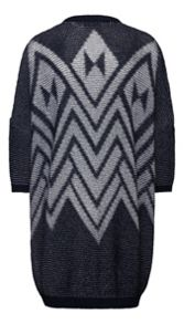 Sandwich Geometric knitted cardigan
