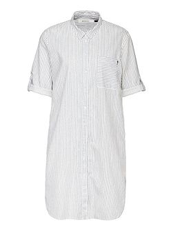 Long stripe linen shirt