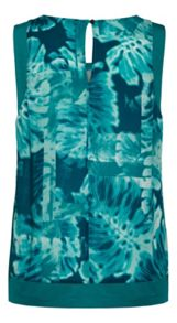 Sandwich Tropical print sleeveless top