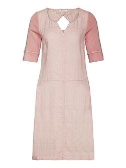 Linen dress with back detail