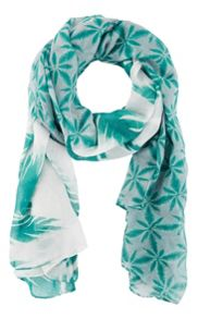 Sandwich Tropical print scarf