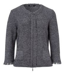 Olsen Frayed knitted jacket