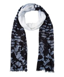 Olsen Shadow Flower Print Scarf