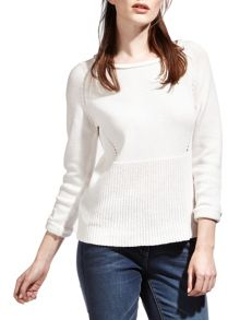 Sandwich Cotton Cable Knit Jumper