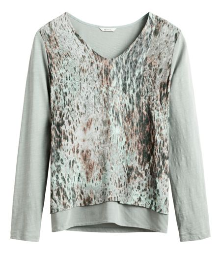 Sandwich Layered abstract print top
